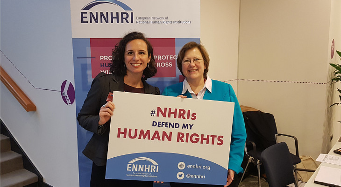 Debbie Kohner (ENNHRI Secretary-General) and Beate Rudolf (GANHRI Chair, ENNHRI Board member, Director of German Institute for Human Rights)