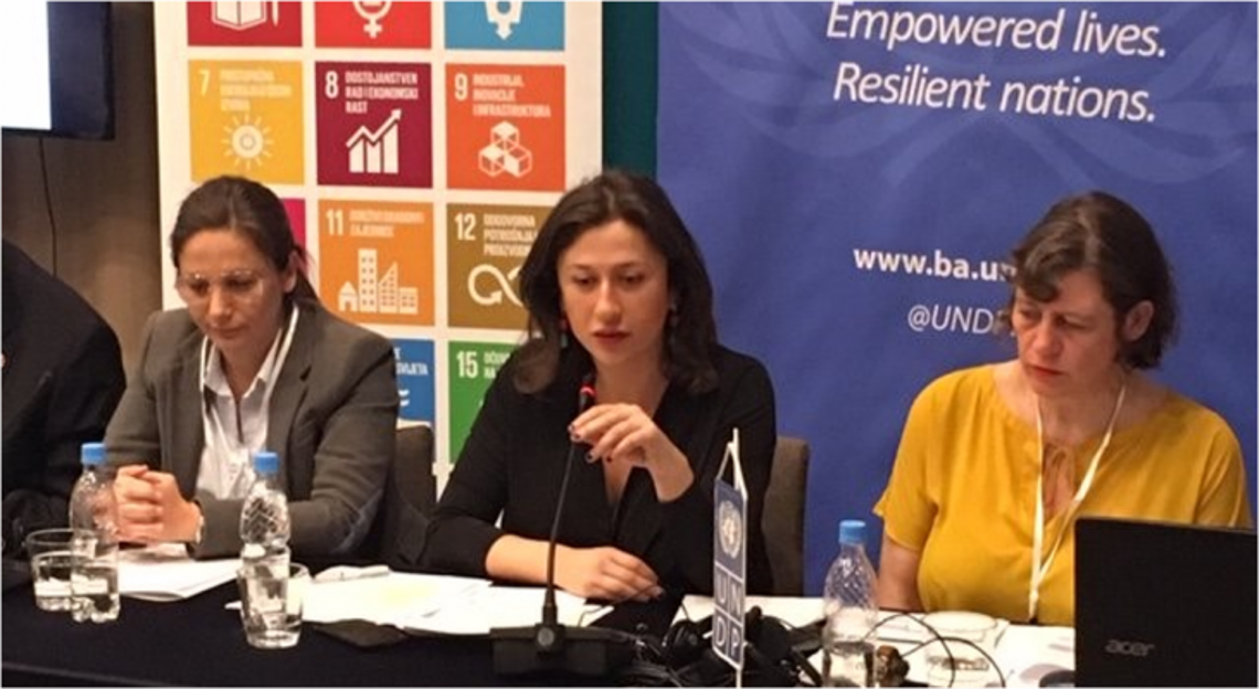 Meri Kochlamazashvili from the Georgian NHRI representing ENNHRI at SDG 16+ Technical Consultation