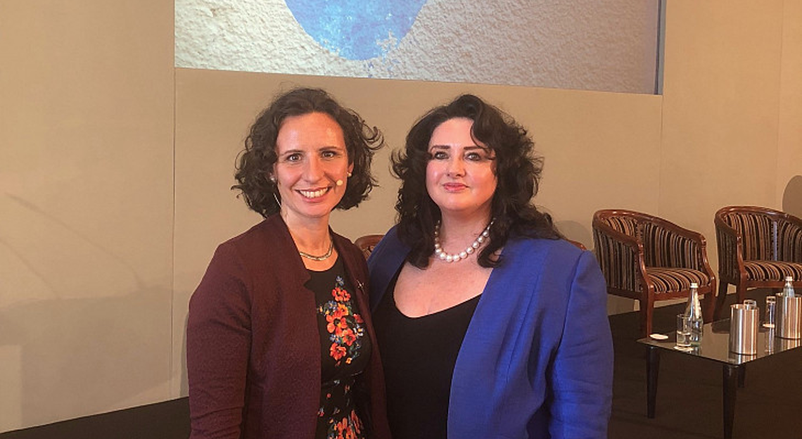 ENNHRI's Secretary General Debbie Kohner and Helena Dalli, Malta's Minister for European Affairs and Equality.