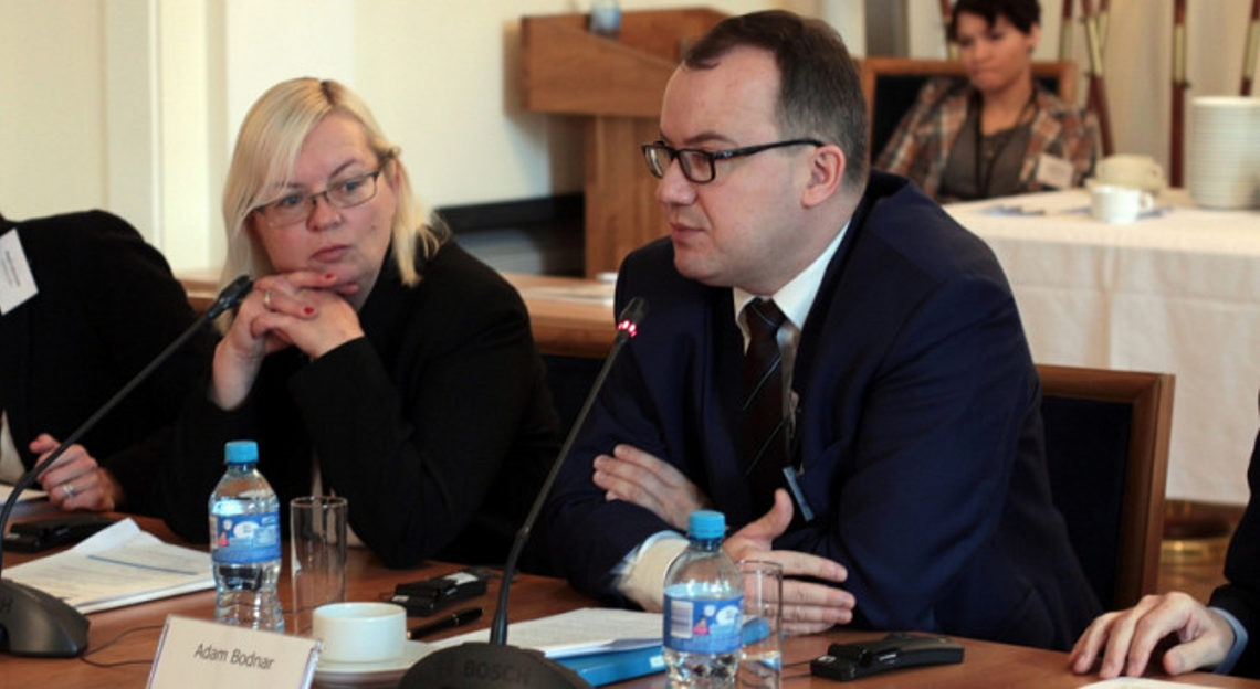 Polish Commissioner for Human Rights addressing participants in the meeting