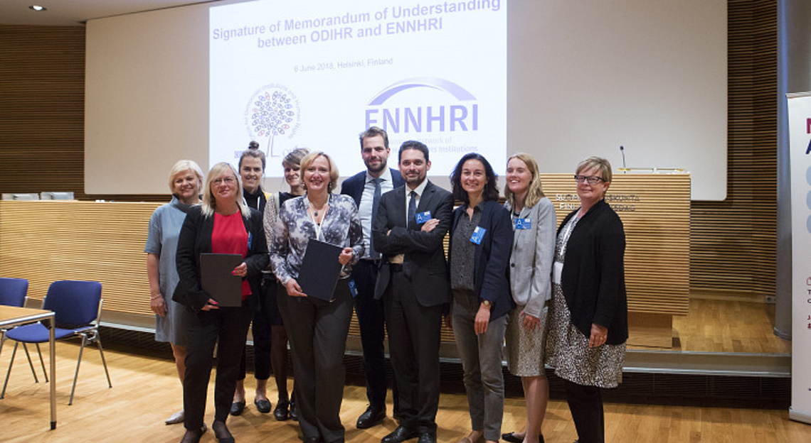 Representatives of OSCE ODIHR and ENNHRI