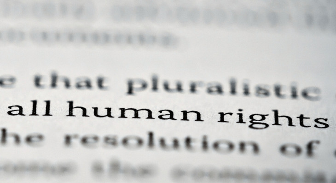 Text with the focus on words 'human rights'