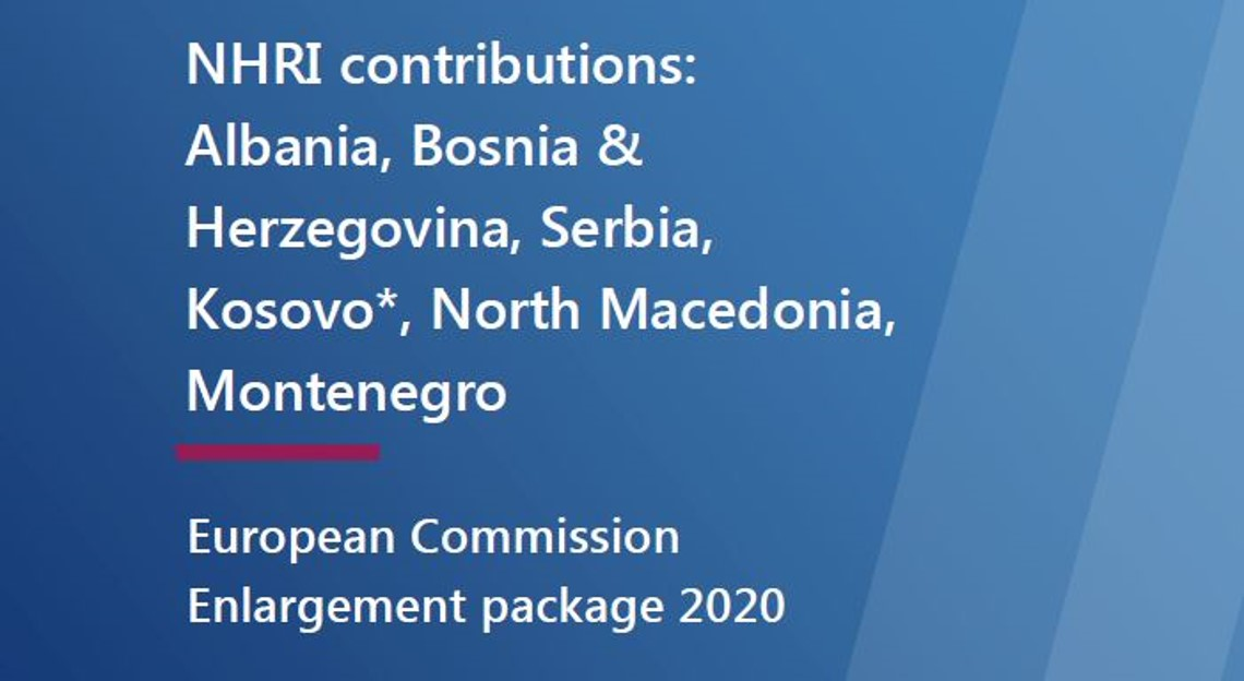 Front page of ENNHRI submission to EU Commission