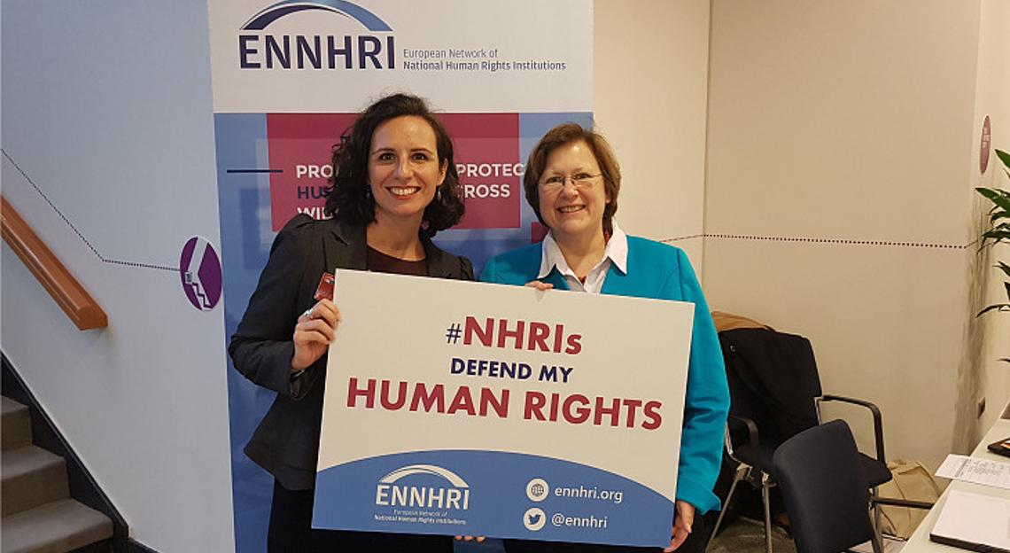 Debbie Kohner (ENNHRI Secretary-General) and Beate Rudolf (GANHRI Chair, ENNHRI Board member, Director of German Institute for Human Rights)