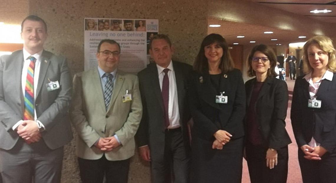 Representatives of the participating NHRIs