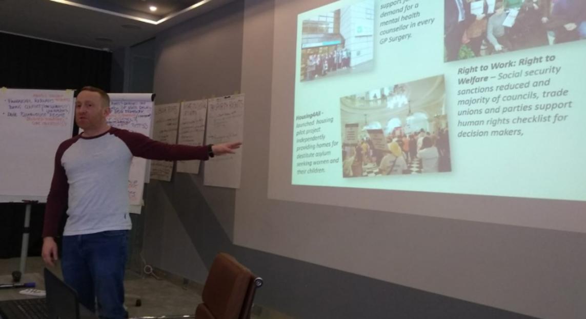 Seán Brady speaking at ENNHRI workshop in Mostar