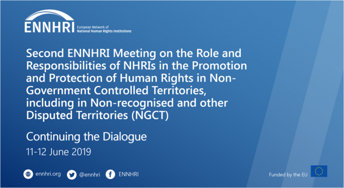 Second ENNHRI meeting on the role of NHRIs in NGCTs - poster
