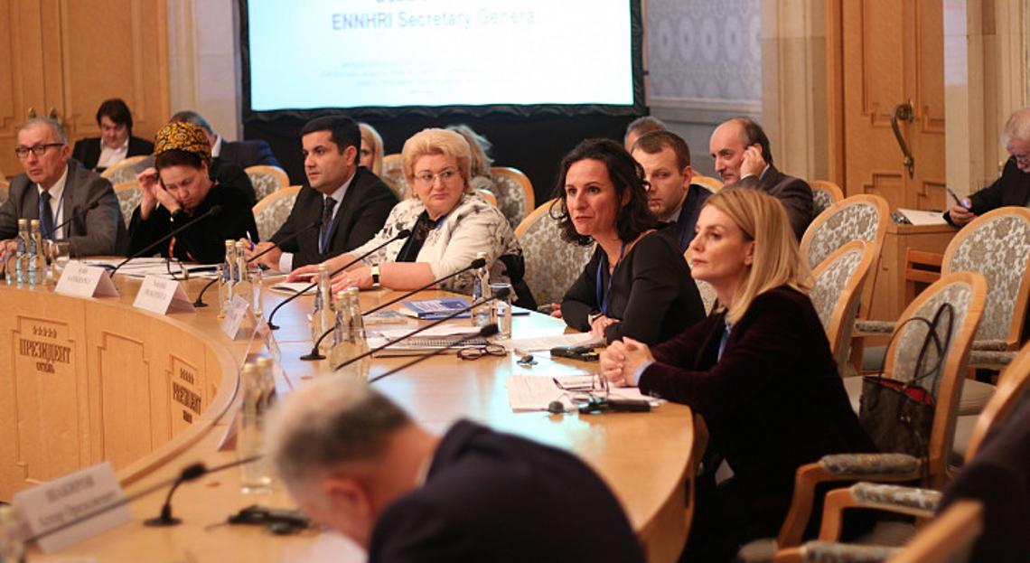Debbie Kohner, ENNHRI Secretary-General, speaking at the conference