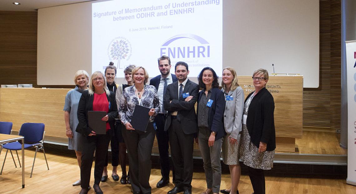 Representatives of OSCE ODIHR and ENNHRI