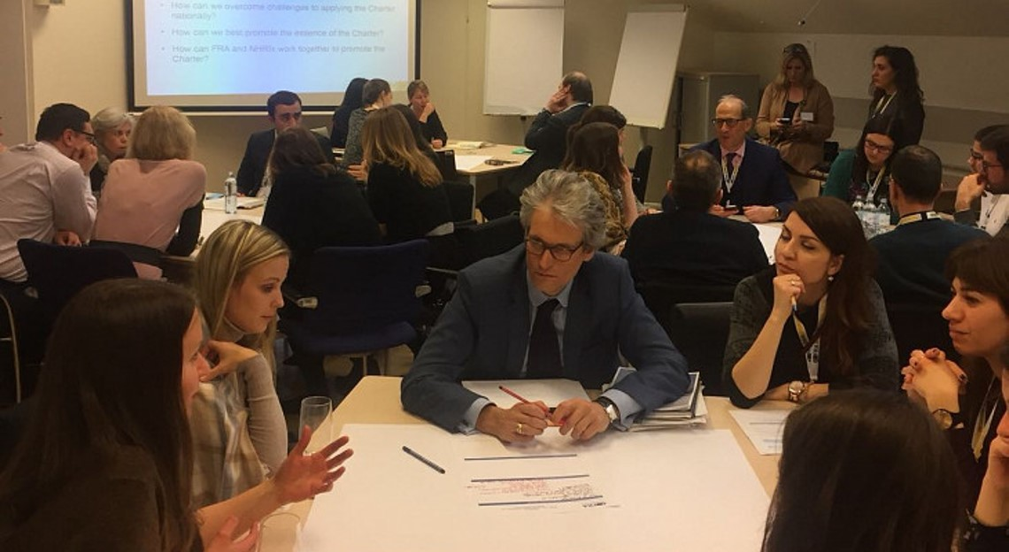 Participants in training on EU Charter