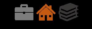 Work, housing, education icons