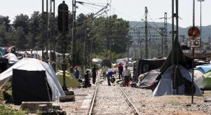 Greek/FYROM border in May 2016